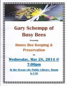 Bee Keeping Lecture at OC Library - 28 May